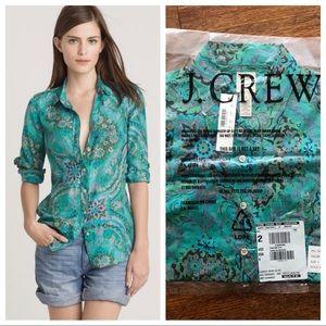 J. Crew Casbah Paisley Perfect Shirt